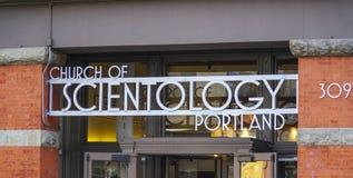 Die Scientology Kirche in Portland - PORTLAND - OREGON - 16. April 2017 lizenzfreies stockbild