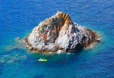 Die Scoglietto-Insel. stockfotos