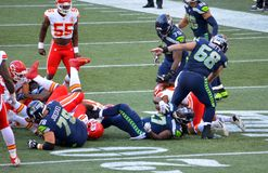 Die Seattle Seahawks GEGEN Kansas City Chiefs Stockfotografie