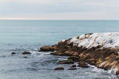 Die Seefelsen in Marina di Pisa Italien Lizenzfreie Stockfotografie