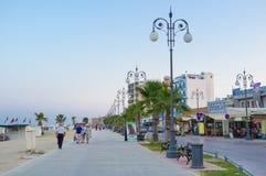 Die Seepromenade Stockfoto