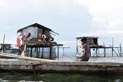 Die Seezigeuner. Bajau Leute… stockfoto