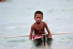 Die Seezigeuner. Bajau Leute… stockbild