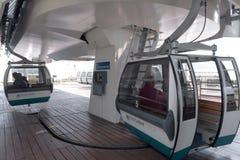 Die Seilbahnstation auf der Küste Tejo - Lissabon Lizenzfreie Stockfotos