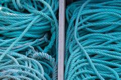 Die Seile des Fischers Stockbild