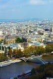 Die Seine in Paris, Frankreich Lizenzfreies Stockfoto