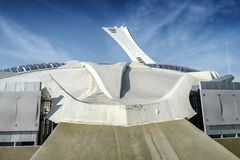Die Seite des Olympiastadions Montreal Lizenzfreies Stockfoto