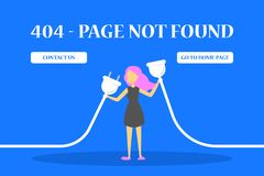 die Seite mit 404 Fehlern nicht fand Fahne für Website vektor abbildung