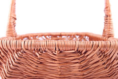 Die Seitenrückseite des Weidenkorbes Stockfoto