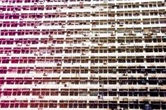 Die Seitenwand des Gebäudes und der Wohnung Gezeichnet mit Luft-Betrug wi Stockbild