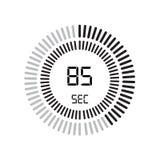 Die 85-Sekunden-Ikone, digitaler Timer Uhr und Armbanduhr, Timer, coun stock abbildung