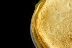 Die selbst gemachten Pfannkuchen, die von der Tapioka gemacht werden, bemehlen, Eier und Kokosmilch Passender Nachtisch für gesun Stockbild