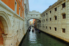 Die Seufzerbrücke, Venedig, Italien Lizenzfreie Stockbilder
