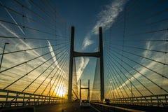 Die Severn Brücke Stockfotos
