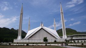 Die Shah Faisal Moschee lizenzfreies stockfoto