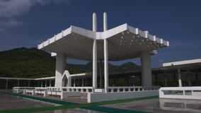 Die Shah Faisal Moschee stockbilder