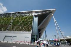 Die Shanghai-Weltausstellungs-Ausstellungshalle Stockfotos