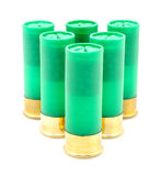 12 die shells van het maatjachtgeweer voor de jacht wordt gebruikt Stock Afbeelding