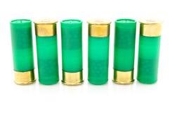 12 die shells van het maatjachtgeweer voor de jacht wordt gebruikt Stock Foto's
