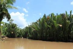 Die sich hin- und herbewegenden Märkte in Vietnam der Mekong Lizenzfreies Stockbild