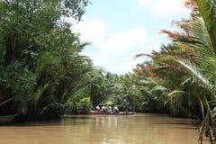 Die sich hin- und herbewegenden Märkte in Vietnam der Mekong Lizenzfreie Stockfotos