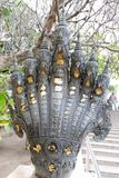 Die sieben-köpfige Schlange in Ayutthaya-Zeitraum lizenzfreies stockbild