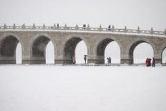 Die Siebzehn-Bogen-Brücke Stockfotos