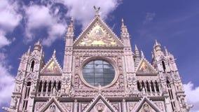Die Siena-Kathedrale stock video footage