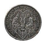 Die Silbermünze. Stockbild
