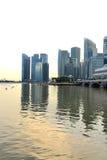 Die Singapur-Skyline Stockbilder