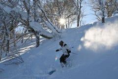 Die Skifahrermänner Lizenzfreie Stockfotografie