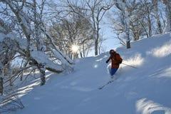 Die Skifahrermänner Lizenzfreies Stockfoto