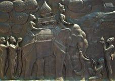 Die Skulptur über die Vergangenheit der sukothai Geschichte Stockfotografie