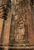 Die Skulptur in Angkor Wat, Kambodscha lizenzfreie stockfotografie