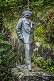 Die Skulptur des berühmten norwegischen Komponisten Edvard Grieg Stockbild