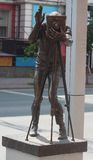 Die Skulptur des Fotografen Foto machend Lizenzfreies Stockfoto