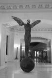 Die Skulptur des Krähenmannes Lizenzfreies Stockbild