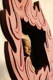 Die Skulptur in einem Tempel in Vietnam lizenzfreies stockbild