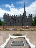 Die Skulptur komplexen ErinnerungsVictory Squares in der Stadt von Voronezh Lizenzfreie Stockfotografie