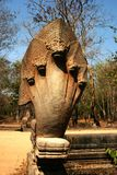 Die Skulpturen in Angkor Wat von Kambodscha lizenzfreies stockbild