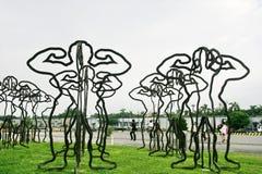 Die Skulpturen in Kaohsiung, Taiwan stockbild