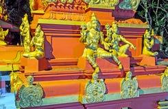Die Skulpturen von Seetha und von Rama Stockbild