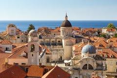 Die Skyline der alte Stadt in Dubrovnik Lizenzfreie Stockfotos