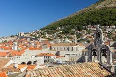 Die Skyline der alte Stadt in Dubrovnik Stockfotos