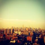 Die Skyline, die nie schläft Stockbild