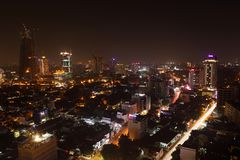 Die Skyline von Colombo stockfoto