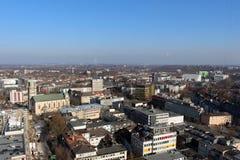 Die Skyline von Essen (Deutschland) lizenzfreies stockbild