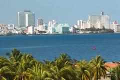 Die Skyline von Havana stockbilder