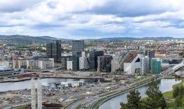 Die Skyline von Oslo, Norwegen lizenzfreies stockbild