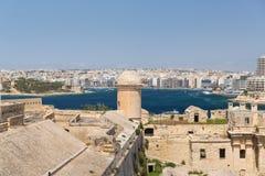 Die Skyline von Valletta Lizenzfreie Stockfotografie